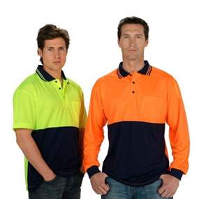 Long Sleeve Fluoro Polo